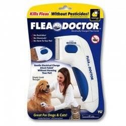 FLEA DOCTOR ELECTRIC PET CAT DOG SAFE ZAPPER COMB KILLS FLEAS