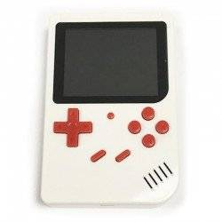 RETRO FC GAMING PLAYER, 3.5INCH LCD RECHARGABLE HANDHELD CONSOLE BUILT-IN 300 GAMES KIDS WHITE GB-40