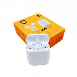 H3 WIRELESS EARPHONE BLUETOOTH 5.0 IN EAR HEADPHONE TOUCH CONTROL HEADSET WITH CHARGING BOX FOR MOBILE PHONE - WHITE