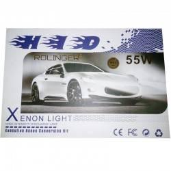 ROLINGER XENON 55WATT H4-3 ΠΛΗΡΕΣ KIT H.I.D. 6000K