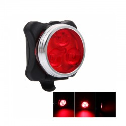 3-LED 160LM RED LIGHT HIGH BRIGHTNESS 4-MODE BIKE TAIL LAMP WITH USB CHARGING HJ-030
