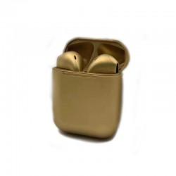 ΑΣΥΡΜΑΤΑ ΑΚΟΥΣΤΙΚΑ ΤΥΠΟΥ IPHONE INPODS 12 ELEVEN GOLD