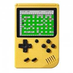 RETRO GAMING PLAYER, 3.5INCH LCD RECHARGABLE HANDHELD CONSOLE BUILT-IN 400 LEHUAI YELLOW LH-28