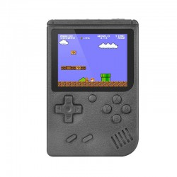 RETRO GAMING PLAYER, 3.5INCH LCD RECHARGABLE HANDHELD CONSOLE BUILT-IN 400 LEHUAI BLACK LH-28