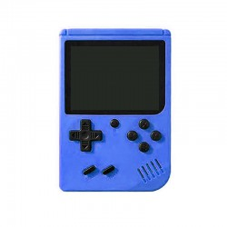 RETRO GAMING PLAYER, 3.5INCH LCD RECHARGABLE HANDHELD CONSOLE BUILT-IN 400 LEHUAI BLUE LH-28