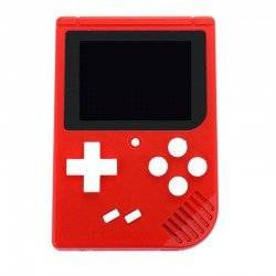 RETRO GAMING PLAYER, 3.5INCH LCD RECHARGABLE HANDHELD CONSOLE BUILT-IN 400 LEHUAI RED LH-28R