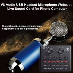 LIVE SOUND CARD V8 MOBILE PHONE COMPUTER KARAOKE LIVE SOUND CARD ANCHOR