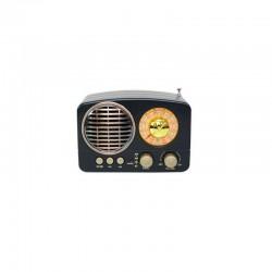MEIER M-161BT RETRO LOOKING FM RADIO USB BLUETOOTH SPEAKER BLACK