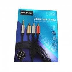 ΚΑΛΩΔΙΟ 3.5MM JACK TO 3RCA MALE CABLE STEREO DIGITAL COAXIAL AUDIO CABLE 1,8M M2-0830