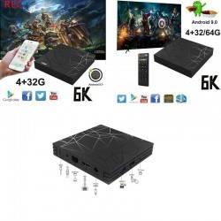 TV BOX Q6 PLUS 6K MAX 4GB 64GB ANDROID 9.0 4K TV BOX WI-FI IPTV 4 CORE WIFI