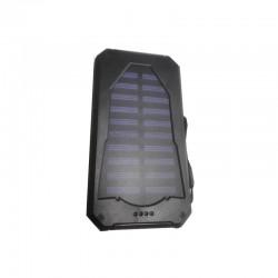 POWER BANK SOLAR CHARGER ΜΕ 2 USB 8000mAh BLACK