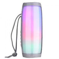 TG-157 BLUETOOTH 4.2 MINI PORTABLE WIRELESS BLUETOOTH SPEAKER WITH MELODY COLORFUL LIGHTS GREY