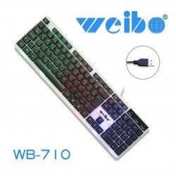 LED ΠΛΗΚΤΡΟΛΟΓΙΟ ΥΠΟΛΟΓΙΣΤΗ WEIBO WB-710