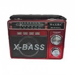 WAXIBA X-BASS ΦΟΡΗΤΟ ΡΑΔΙΟΦΩΝΟ ΜΕ AM / FM / SW, USB / SD TF MP3 PLAYER ΚΑΙ ΦΑΚΟ RED XB-3813U
