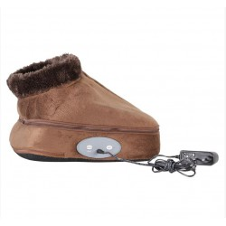 2 ΣΕ 1 ELECTRIC HEATED FOOT WARMER MASSAGER BIG SLIPPER YH-12600