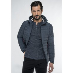 FUNKY BUDDHA MEN'S LIGHTWEIGHT JACKET ΑΝΔΡΙΚΟ PADDED ΜΠΟΥΦΑΝ FBM001-01219 BLACK
