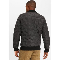 FUNKY BUDDHA MEN'S BOMBER JACKET BLACK ΑΝΔΡΙΚΟ BOMBER ΜΠΟΥΦΑΝ FBM028-01219