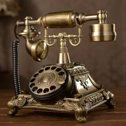 VINTAGE TELEPHONE ΡΕΤΡΌ ΣΤΑΘΕΡΟ ΤΗΛΕΦΩΝΟ ΕΠΙΤΡΑΠΕΖΙΟ ΕΝΣΥΡΜΑΤΟ CALLER ID PHONE
